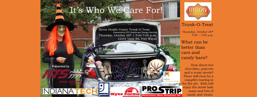 byron health center to host trunk o treat event